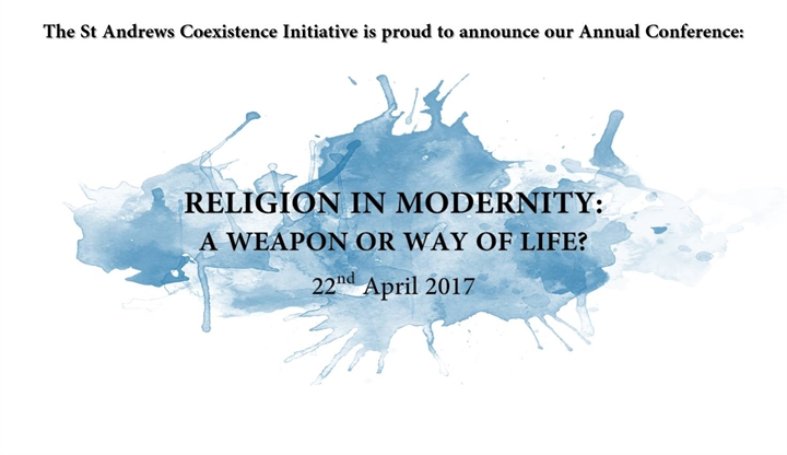 Coexistence Initiative - Religion in Modernity: A Weapon or Way of Life?