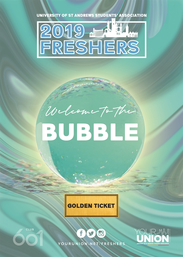 Freshers' Week - Welcome to the Bubble 2019